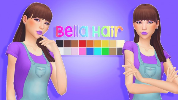Sul Sul: Bell hair for Sims 4