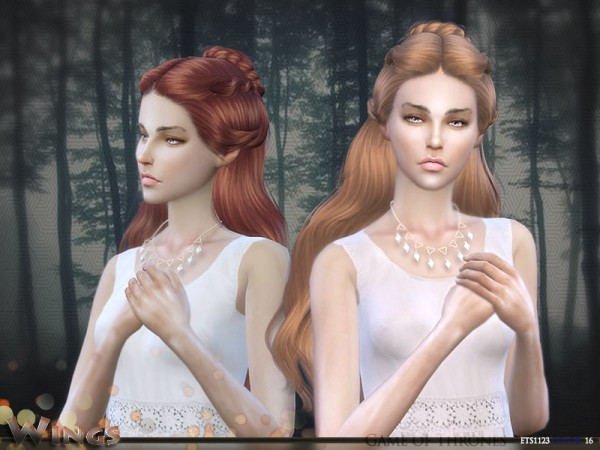 The Sims Resource: ETS1123 F hair by wingssims for Sims 4