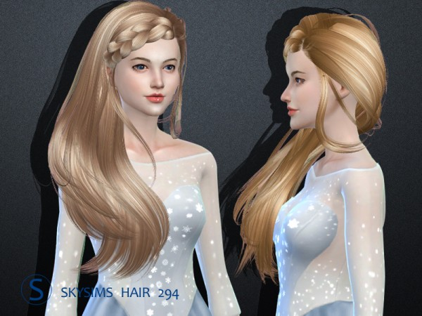 Butterflysims: Hair 294 by Skysims for Sims 4