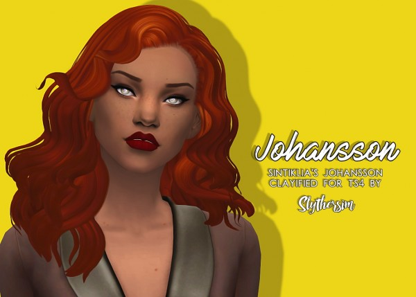 Slythersim: Sintiklia's Johansson Clayified for TS4 for Sims 4