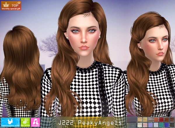 NewSea: J222 Peaky Angel for Sims 4