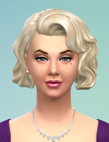 Birksches sims blog: Retro hair shorter for Sims 4