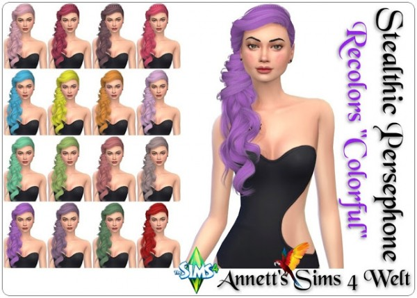 Annett`s Sims 4 Welt: Stealthic`s Persephone hair recolors for Sims 4