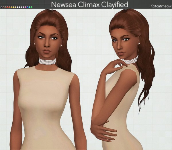 Kot Cat: Newsea`s Climax Hair Clayified for Sims 4