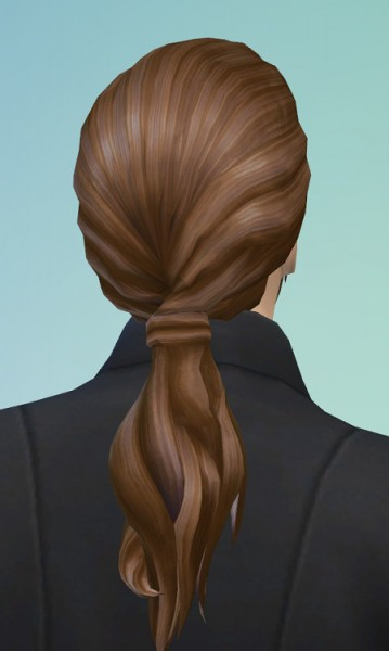 Birksches sims blog: Louis Ponytail hair for Sims 4