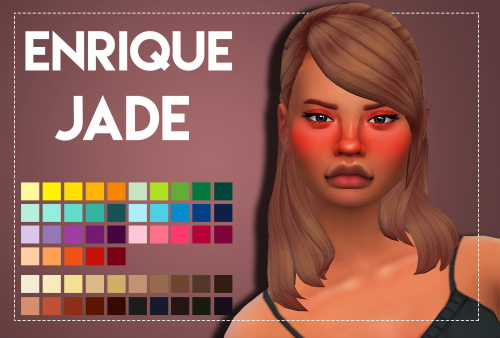 Weepingsimmer: Enrique's Jade hair recolored for Sims 4