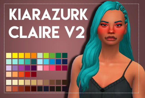 Weepingsimmer: KiaraZurk's Claire V2 hair retextured for Sims 4
