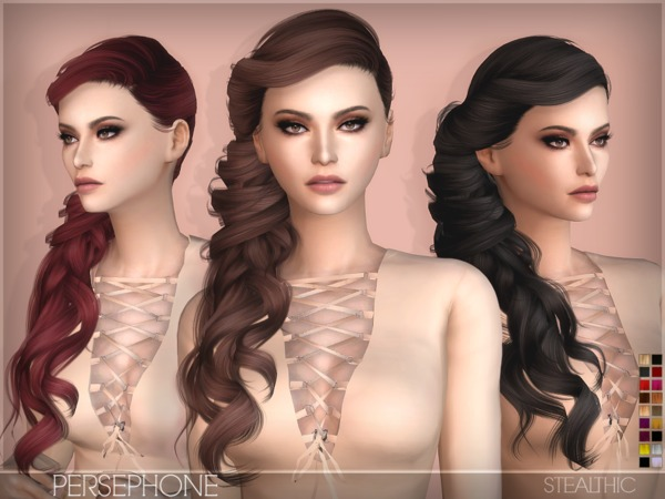 The Sims Resource: Persephone hair by Stealthic for Sims 4