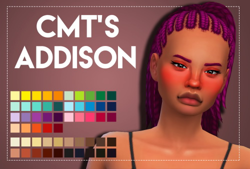 Weepingsimmer: CMT's Addison hair recolor for Sims 4