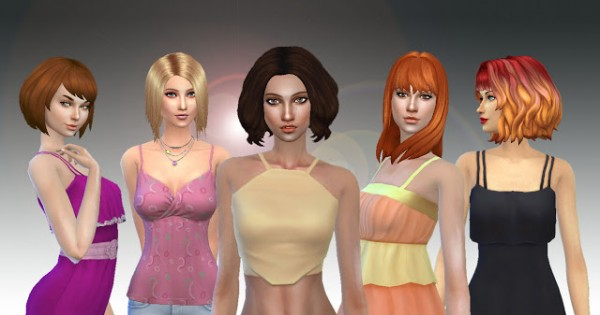 Mystufforigin: Medium Hair Pack 3 for Sims 4