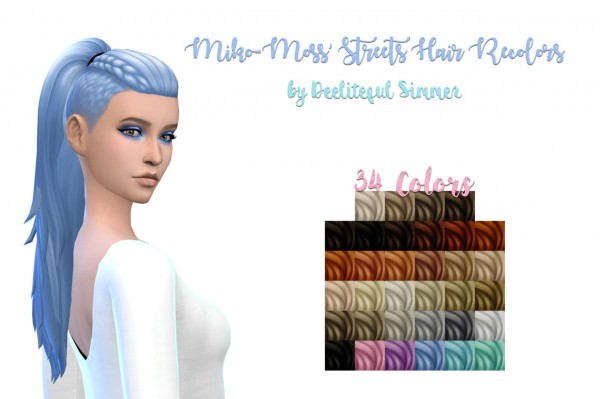 Deelitefulsimmer: Streets hair recolor for Sims 4