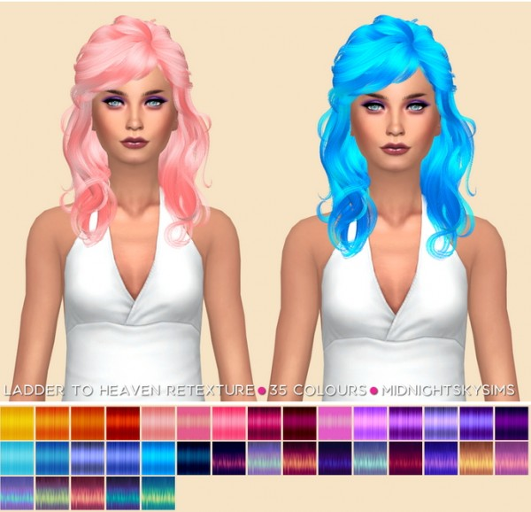 The Sims Resource: Ladder To Heaven Unnatural hair retexture for Sims 4