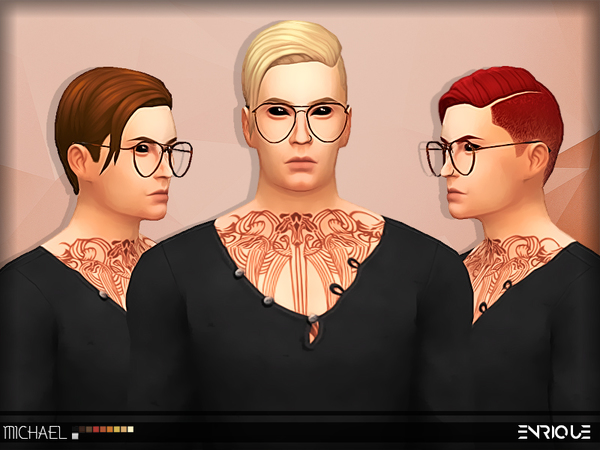 The Sims Resource: Michael hair by Jurvv for Sims 4