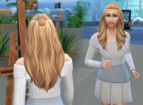 Mystufforigin: Isabella hair for Sims 4