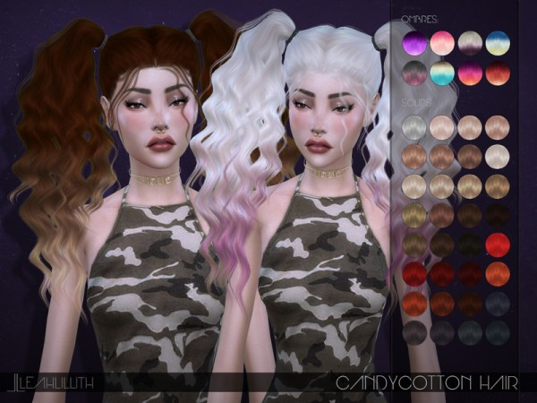The Sims Resource: Candycotton Hair by LeahLillith for Sims 4