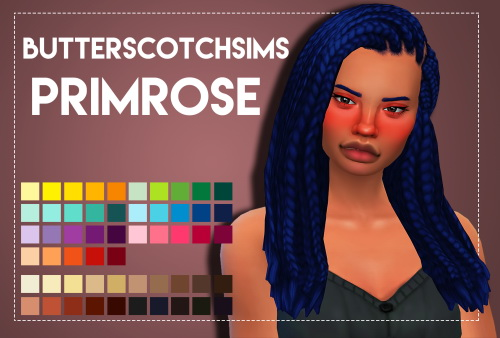 Weepingsimmer: Butterscotchsims' Primrose hair recolored for Sims 4