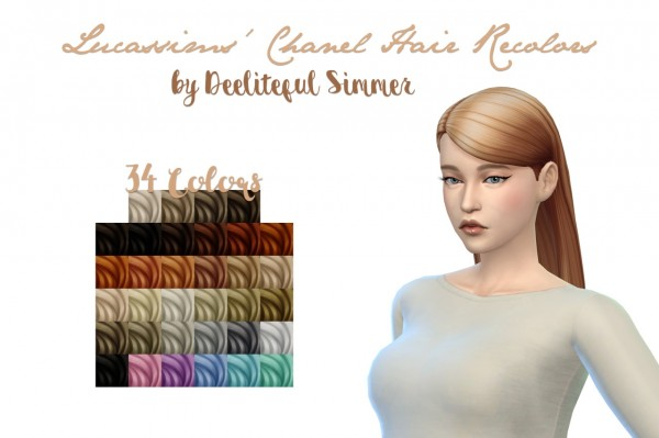 Deelitefulsimmer: Lucassims Chanel Hair recolors for Sims 4