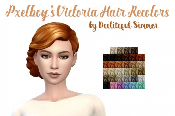 Deelitefulsimmer: Virginia hair recolor for Sims 4