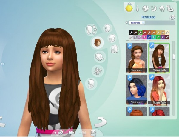 Mystufforigin: Long NO Dipped Color for Girls for Sims 4