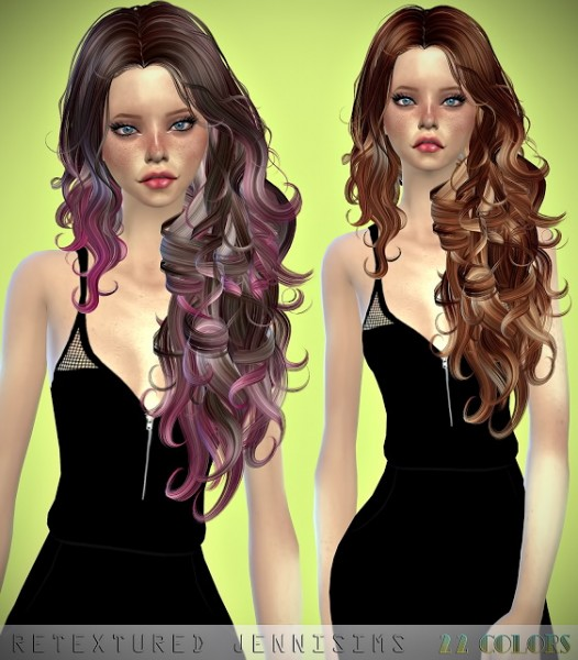 Jenni Sims: Newsea`s Chambers hair retextured for Sims 4