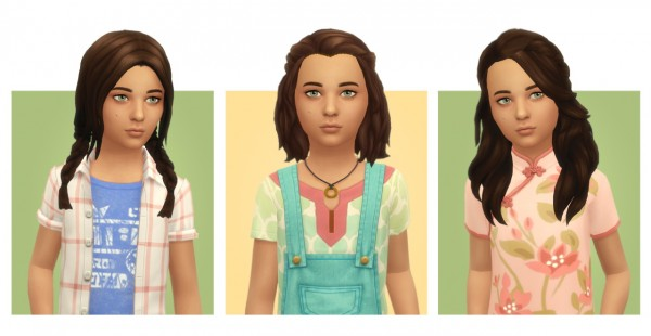Simple Simmer: Followers Gift 2  12 Child hairs for Sims 4