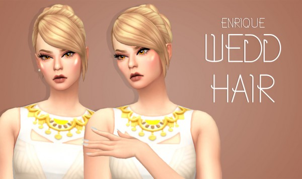 Enrique: Wedd hair for Sims 4