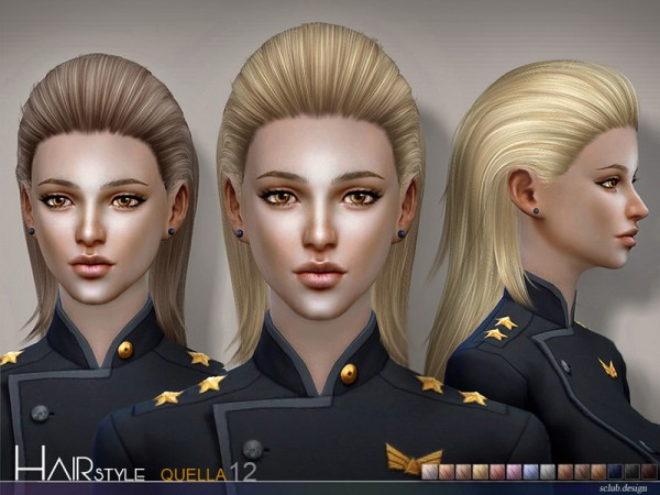 The Sims Resource: Quella 12 hair by S Club for Sims 4