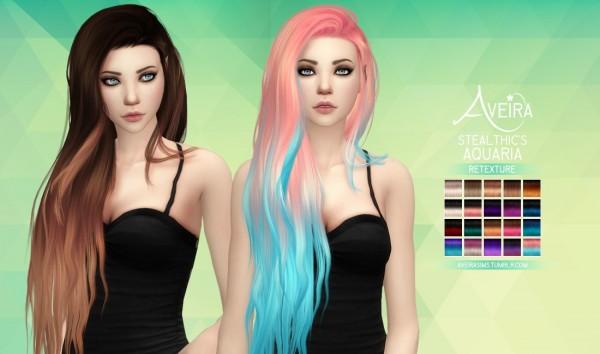 Aveira Sims 4: Stealthic's Aquaria hair retextured for Sims 4