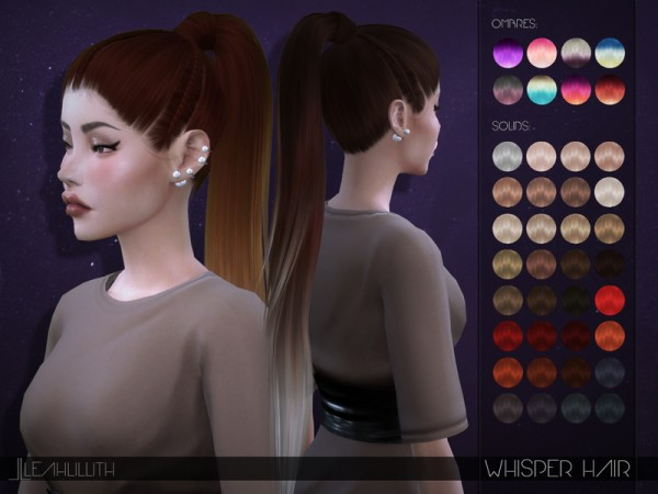 The Sims Resource: Whisper Hair by LeahLillith for Sims 4
