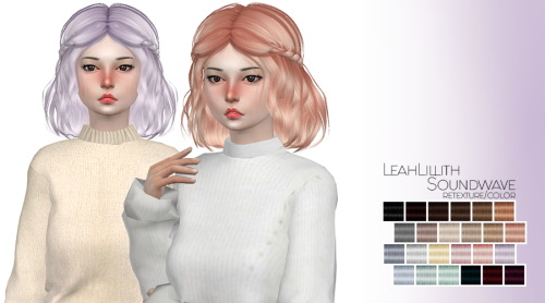 Marlie s: LeahLillith Soundwave hair retextured for Sims 4