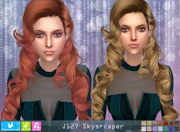 NewSea: J127 Skyscraper hair for Sims 4