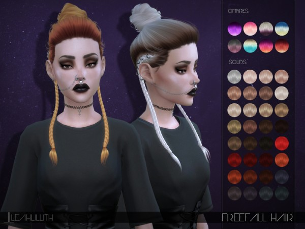The Sims Resource: Freefall Hair by LeahLillith for Sims 4