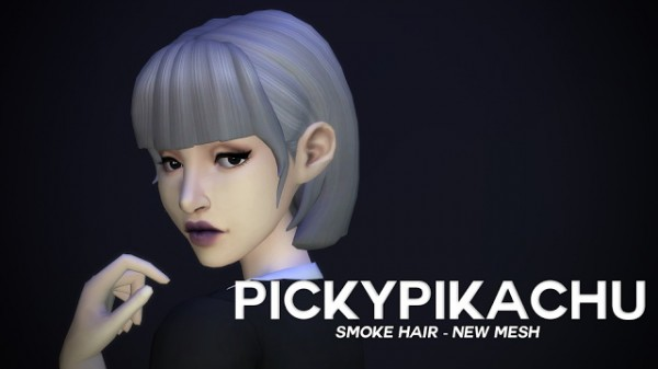 Pickypikachu: Smoke Hair for Sims 4