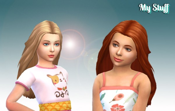 Mystufforigin: Insight Conversion hair for girls for Sims 4