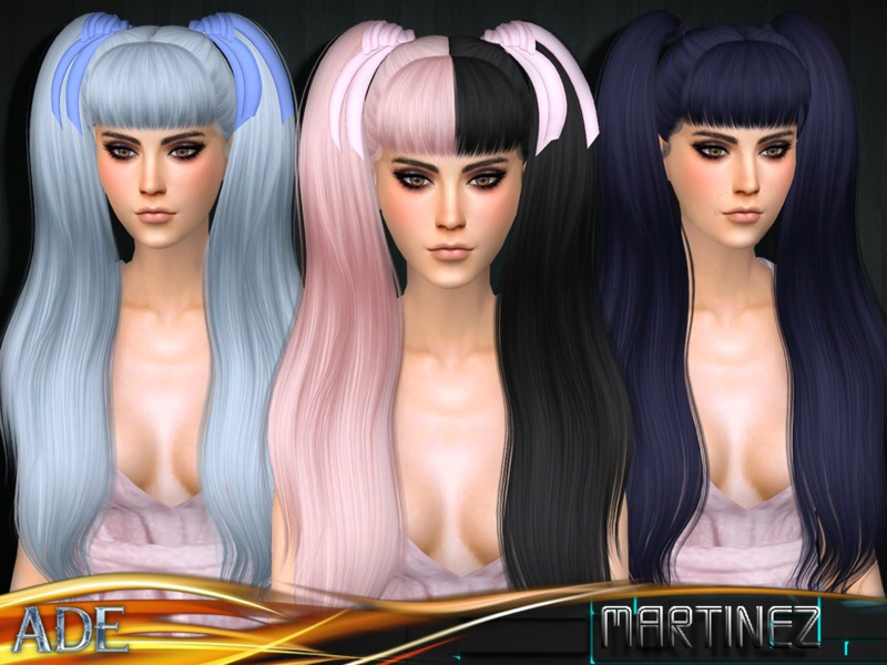Sims 4 Hairs The Sims Resource Martinez Hair With Bangs