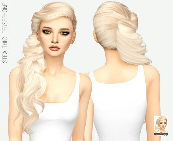 Miss Paraply: Stealthic Persephone hair retextured for Sims 4