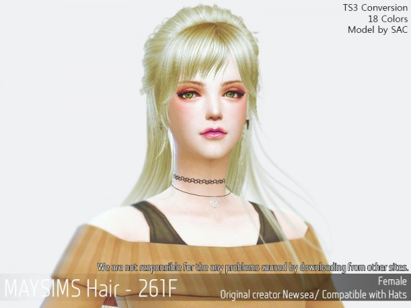 MAY Sims: May 261F hair retextured for Sims 4