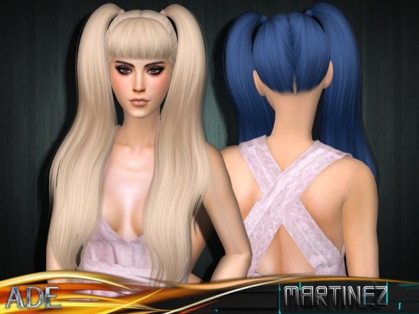 The Sims Resource: Martinez hair with bangs by Ade Darma for Sims 4