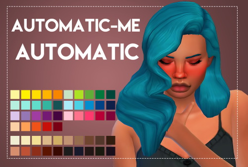 Weepingsimmer: Automatic Me's Automatic hair recolored for Sims 4
