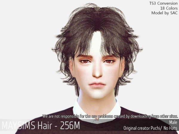 MAY Sims: MAY 256M hair retextured for Sims 4