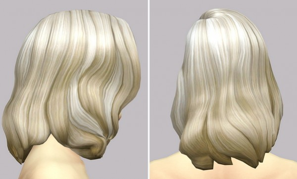 Rusty Nail: Long wavy clasic edit V3 for her for Sims 4
