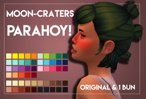 Weepingsimmer: Moon Craters' Parahoy hair recolored for Sims 4