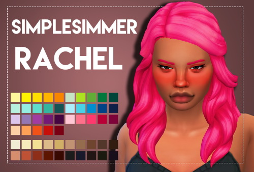 Weepingsimmer: Simplesimmers Rachel hair recolored for Sims 4