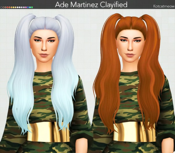 Kot Cat: Ade Martinez Hair Clayified for Sims 4