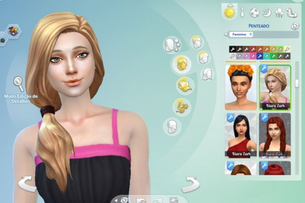 Mystufforigin: Side Pony Hairstyle for Sims 4