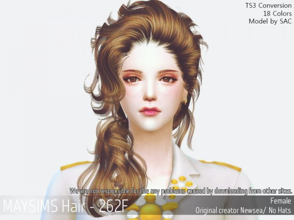 MAY Sims: May 262F hair retextured for Sims 4