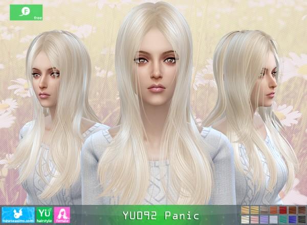NewSea: YU0902 Panic hair for Sims 4