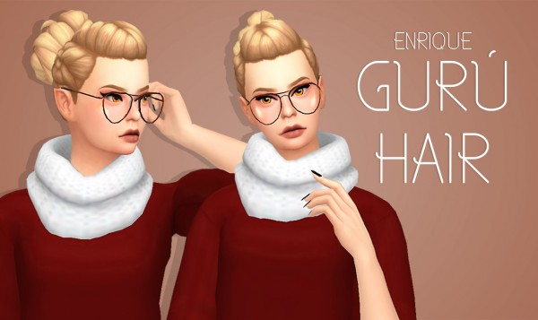 Enrique: Guru Hair for Sims 4