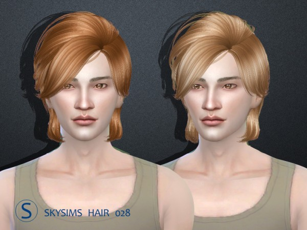 Butterflysims: Skysims hair 028 for Sims 4