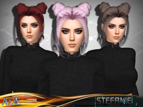 The Sims Resource: Stefanie with Bangs by Ade Darma for Sims 4